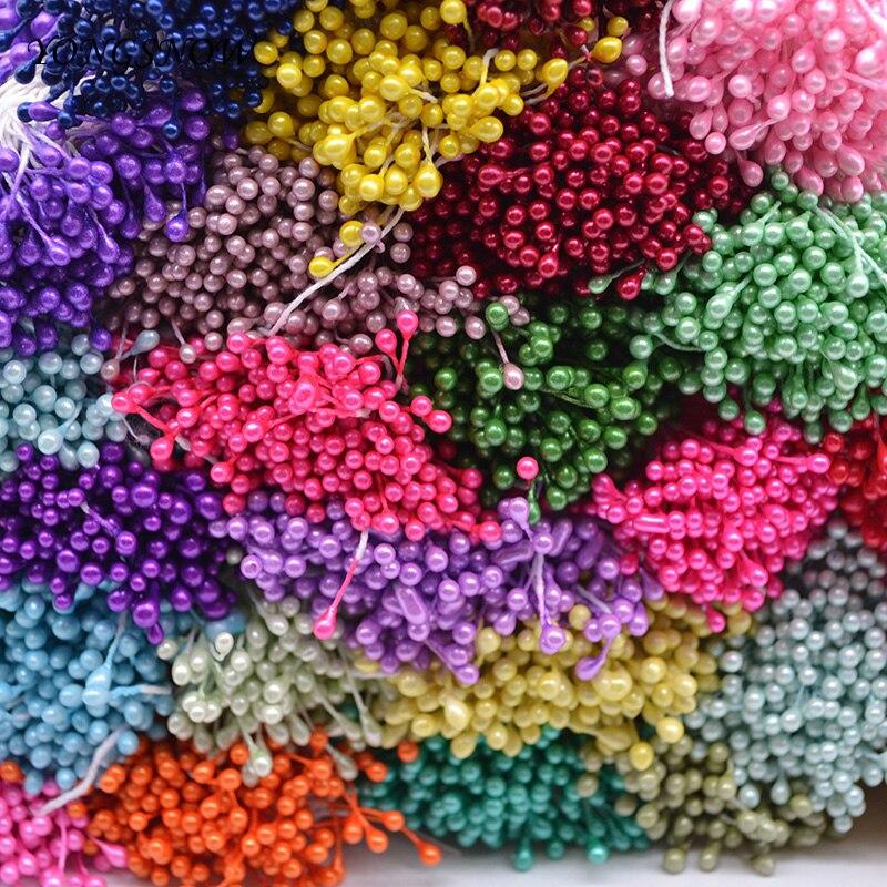 250Pcs/lot 3mm Mini Flower Stamens Artificial Stamen DIY Handmade Wreath Wedding Party Decoration Scrapbooking Crafts 8Z