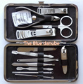 12 In 1 Manicure set Professional High quality alloy stainless steel Pedicure suit scissors Dead skin file Nail tools
