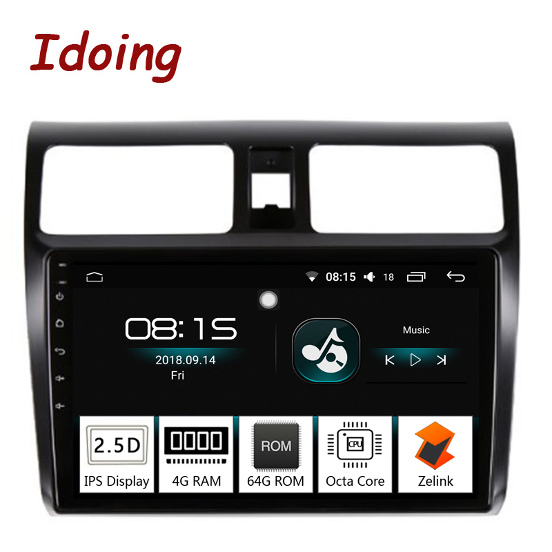 Idoing 10 2 4G 64G 2 5D IPS Screen Octa Core Car Android8 0 Radio Player