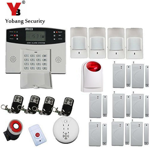 YobangSecurity English Russian Spanish French Voice 7 Wired 99 Wireless Zones GSM Home Security Alarm Systems with Strobe Siren yobang security english russian voice home alarm app gsm alarm system 99 wireless zones wireless wired house alarm smart home