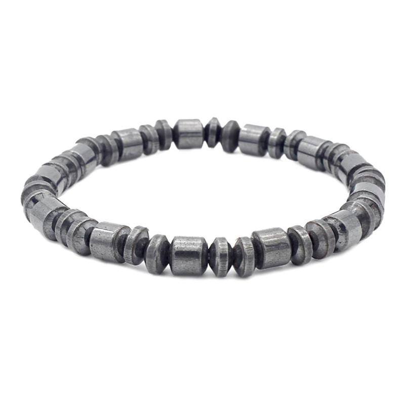 New Fashion Charm Black Magnetic Hematite Bracelet for Men Women Healthy Bracelets Dumbbell Bracelet Jewelry Accessories bracelet