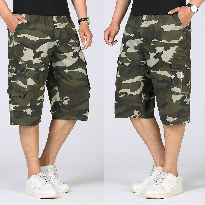 18 Man Summer Brand Shorts Fashion Mens Casual Bermuda Camouflage Short Pants Men Homme Printing Loose Cargo Shorts