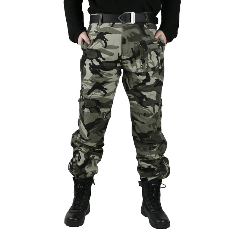 f5043770c8a Tactical Pants Multi Pocket Military Style Army Camouflage Men s Cargo  Pants Male Casual Plus Size Cotton baggy Trousers
