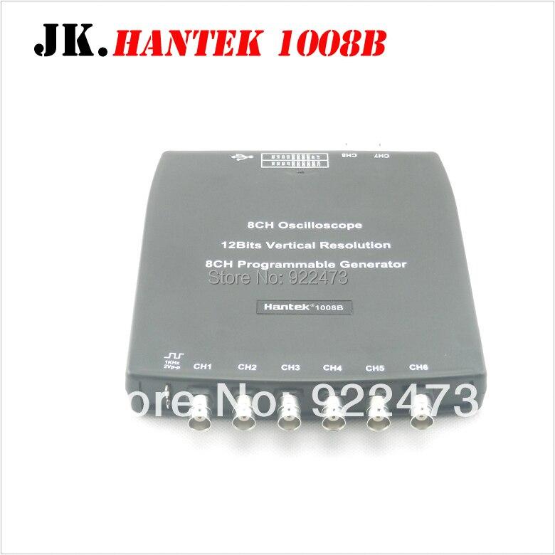H050 Hantek1008B 8CH USB Auto Scope/DAQ/8CH Generator 8 Channels Automotive Diagnostic Oscilloscope Hantek 1008B pc 8ch automotive diagnostic oscilloscope daq programmable generator 1008b