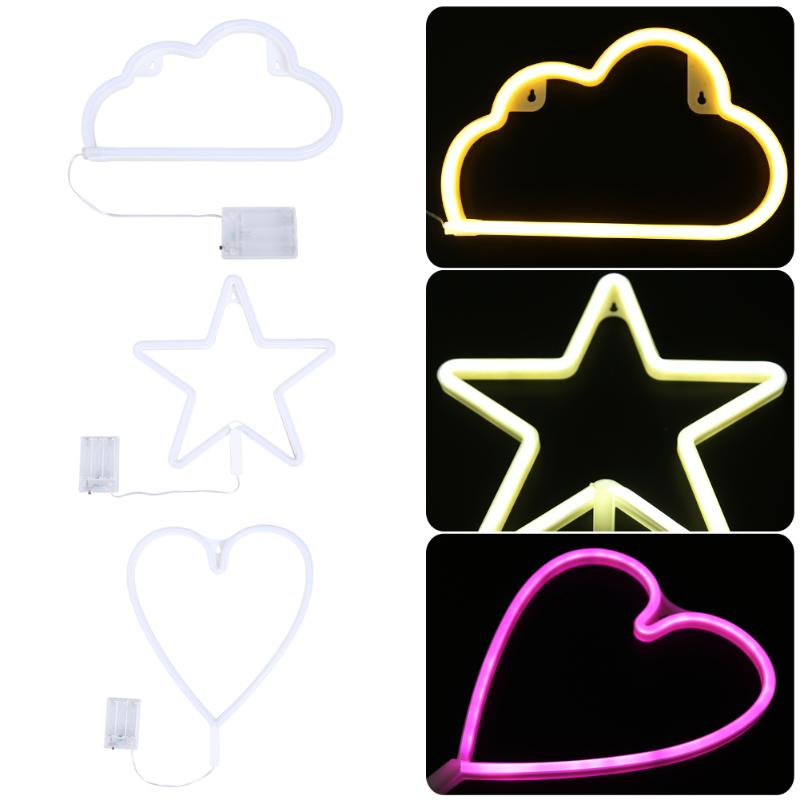 4.5V LED Strip Neon Light Waterproof Heart Cloud Star Shaped For Fairy Lighting IP65 Waterproof With House Decoration