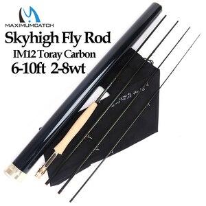 Image 1 - Maximumcatch Skyhigh 6 10ft 2 8wt Fly Fishing Rod แกรไฟต์ IM12 Toray คาร์บอน 3/4 PC บิน Rod คาร์บอนหลอด