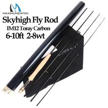 Maximumcatch Skyhigh 6 10ft 2 8wt يطير الصيد رود الجرافيت IM12 توراي الكربون 3/4 قطعة يطير قضيب مع أنبوب الكربون