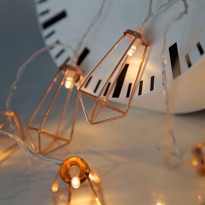 60Led Fairy Retro Rose Gold Diamond Battery Operated String Lights 10M LED Decoration For Christmas Garland New Year Gerlyanda
