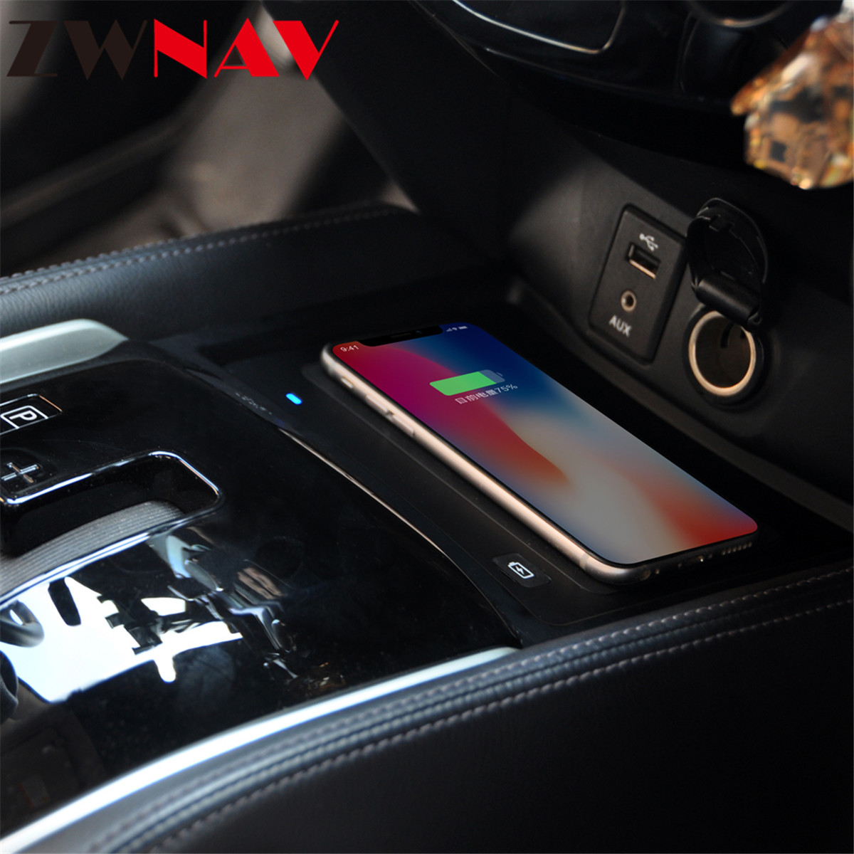 <font><b>QI</b></font> car wireless <font><b>charger</b></font> For <font><b>Nissan</b></font> <font><b>Qashqai</b></font> X-Trail 2017 Intelligent Infrared Fast Wireless Charging Car Phone Holder for iphone image