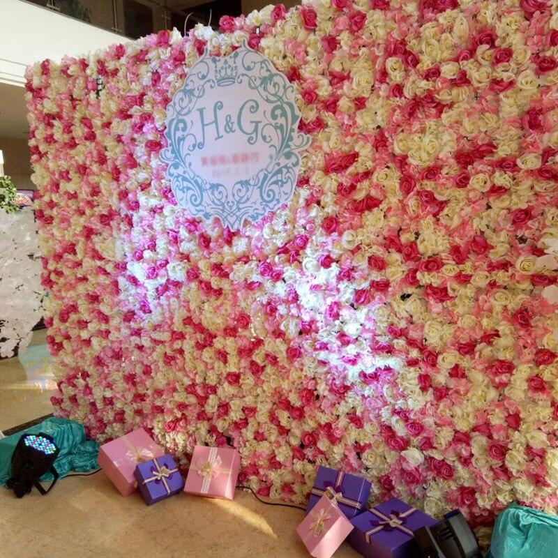 40X60cm Artificial Silk Flower Wall Rose Hydrangea Peony 3DFlower ...
