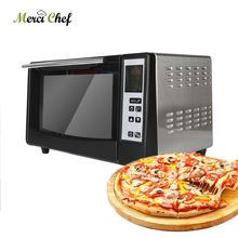 ITOP Electric Oven With Timer Pizza Bakery Oven Household Commercial Use Stainless Steel Oven For Making Bread Cake Pizza 220v large capacity oven 4500w commercial electric oven cake bread large pantry oven hot air circulation oven