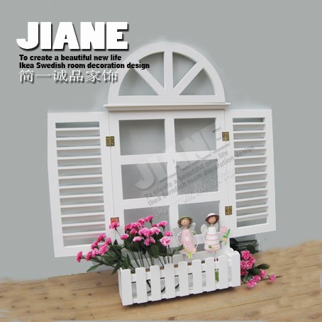 Muons rustic window blinds white arch window meter box for Arch window decoration