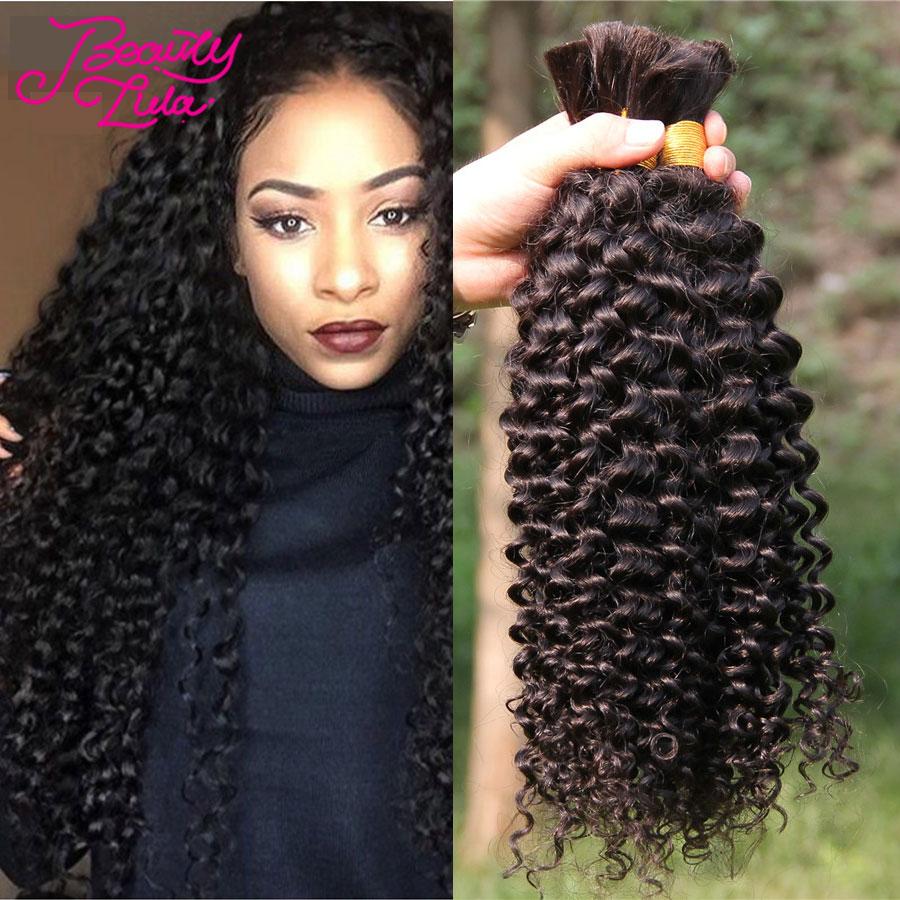 HOT Brazilian Virgin Hair Kinky Curly Human Braiding Hair