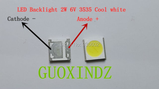WOOREE عالية الطاقة LED الخلفية 2 واط 6 فولت 3535 150LM كول الأبيض LCD الخلفية لتطبيق التلفزيون التلفزيون