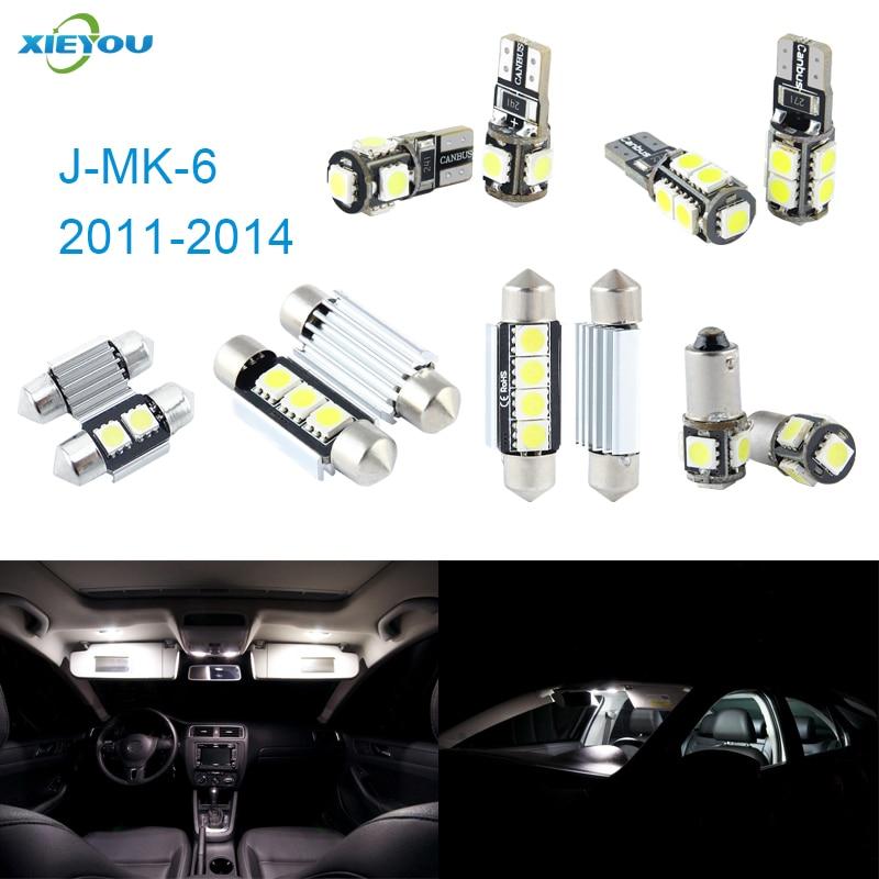 Paket XIEYOU 10pcs LED Canbus Lampu Interior Kit Untuk J MK 6 - Lampu mobil - Foto 1