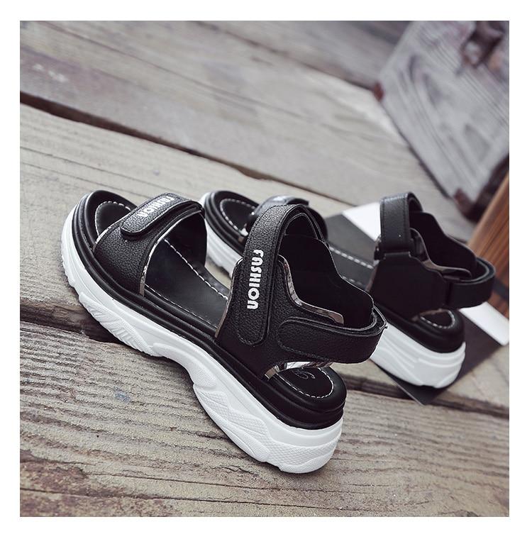 Plateforme clair 40 Chaussures Nouvelles Spartiates 35 Femme Femmes Couleurs À ~ Compensées 3 Crochet noir Taille Boucle De Sandales Chaude Mode Beige 2017 pBqYTwn