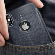 Applicable iPhone Xs Max XR for Embossed Leather TPU Protective Case Apple X 5/6/7/8 S PLUS Mobile phone case
