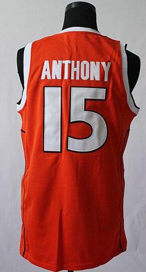 Carmelo Anthony Syracuse Jersey Syracuse 15 Carmelo Anthony Basketball Jersey Embroidered Orange Stitched Jerseys Na202 Jersey Baseball Jersey Skinjersey Motocross Aliexpress