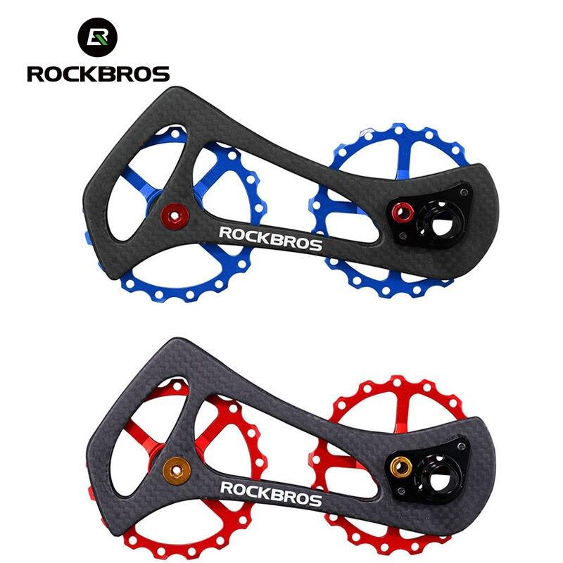 ROCKBROS Vélo En Fiber de Carbone Arrière Dérailleur 17 T Vélo Jockey Poulies Roue Pour Shimano 6800/6870/9000/9070 Ultegra Vélo Partie