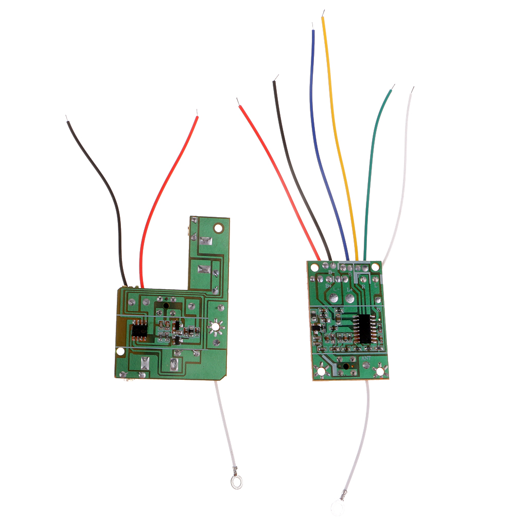 DIY <font><b>RC</b></font> <font><b>Car</b></font> Truck Robot 4CH 40MHZ Remote Controller Transmitter <font><b>Receiver</b></font> <font><b>Board</b></font> With Antenna image