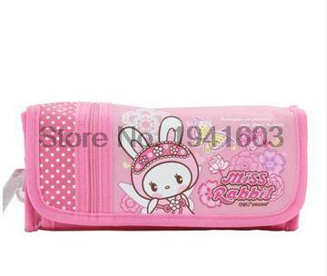 1 Pcs Deli 3062 hello kitty canvas pens bag cute pencil cases for kids girls animals pencilcase pouch school supplies stationery