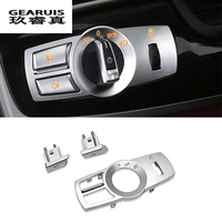 Car Styling For BMW X3 X4 F25 F26 5 7 Series F10 Headlight Switch Buttons Decorative