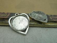 10pcs 18mm Antique Silver The Base Charms Pendant c6249