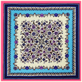Envío Libre 2016 de La Venta Caliente de Seda Bufanda Cuadrada de La Flor Impreso para Damas Nueva Llegada de Las Mujeres de la Marca de Seda Bufandas 100*100 cm