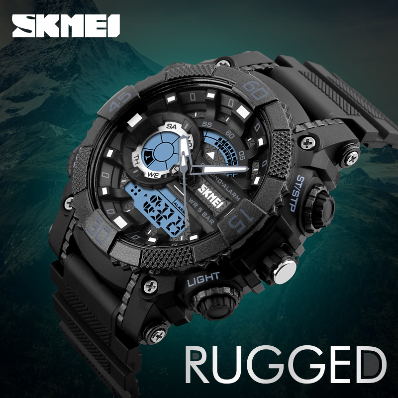 SKMEI High Quality Outdoor LED Digital Watches Men Water Resistant 50M Sport Alarm Electronic Wrist Watches Reloj Digital Hombre