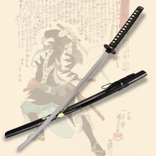 Japanese samurai cosplay Katana anime sword  Carbon steel blade Folk art  vintage home decor swords