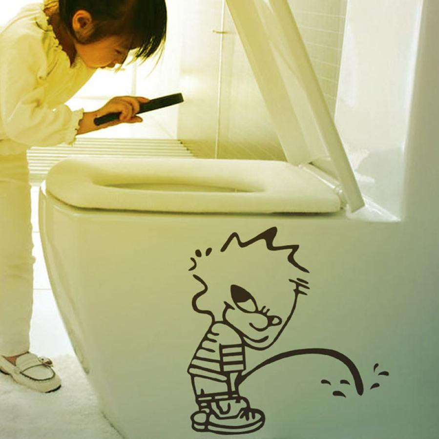 2015 Naughty Kids Bad Boy Toilet Bathroom Decals Art Vinyl Glass ...