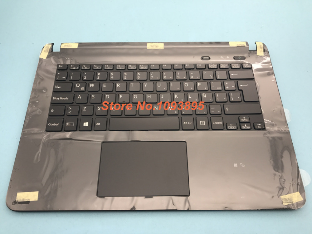 NEW Spanish Latin keyboard For SONY Vaio SVF14325CLB SVF14415CLB Latin keyboard Backlit Black with topcase Palmrest