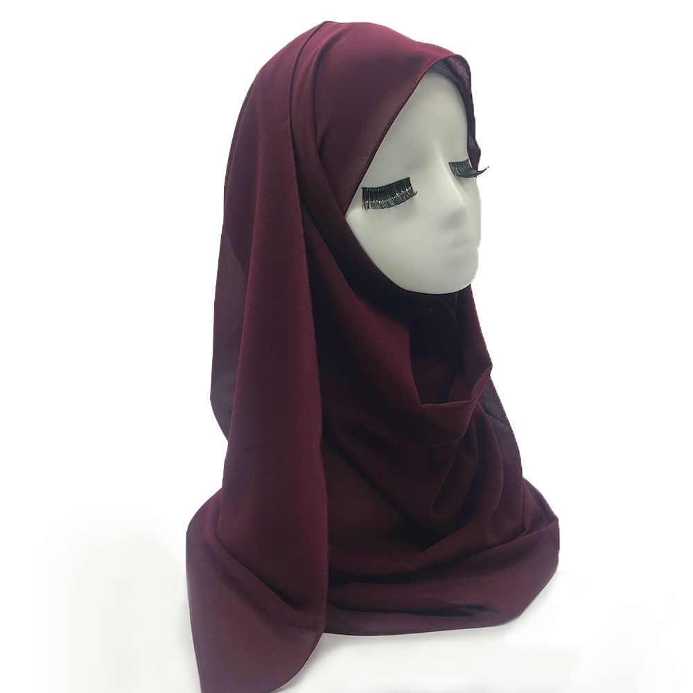 Женский хиджаб с бахромой шаль Простой макси-шарф модный кулон шали леди мусульманский шарф хиджаб мягкая накидка 1 шт 31 Цвета