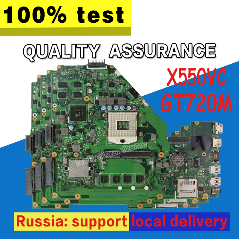 X550VC Motherboard GT720M 8Memory 4GB REV3.0 For ASUS X550VC Laptop motherboard X550VC Mainboard X550VC Motherboard test 100% OK kefu x550vc for asus x550vc x550cc x550v r510v laptop motherboard nvidia geforce gt720m 4g ram 2g video card pga989 100% tested