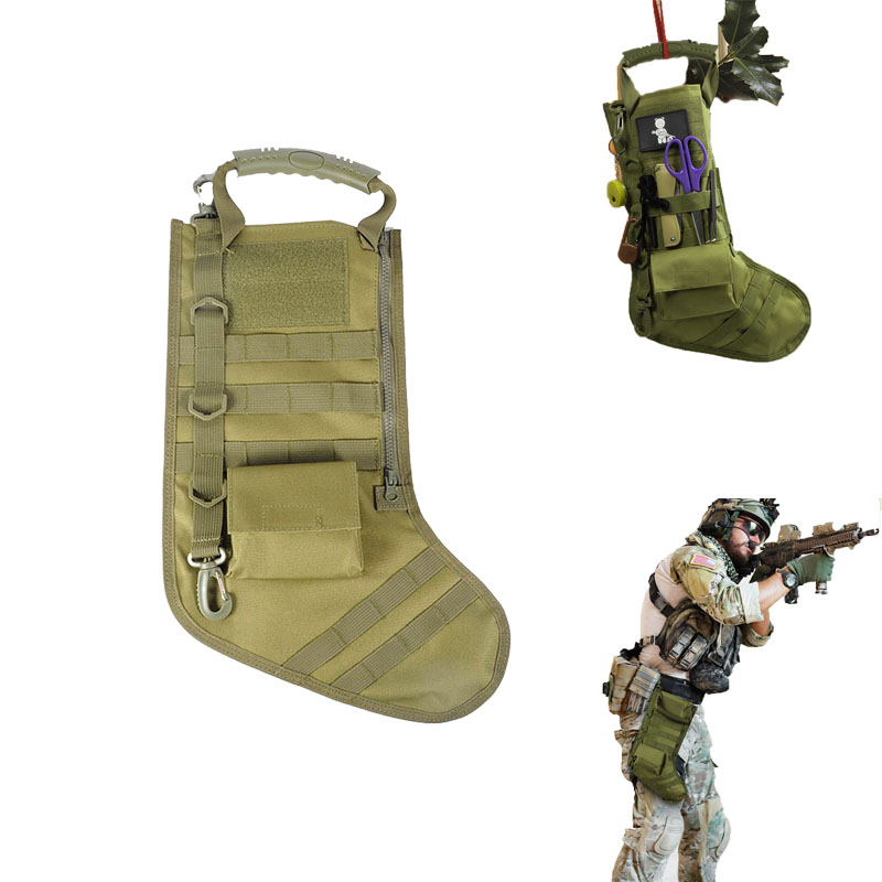 Tactical Stocking Pouch with Molle Straps Military Dump Drop Pouch Christmas Storage Bag Hunting Magazine Pouches