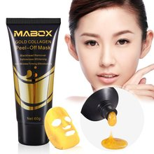 60g Gold Collagen Mask Anti-aging Facial  Blackhead Remover Mask Blackhead Peel Off Cleansing Anti-wrinkle Beauty Face Mask