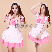 Sexy Maid Costume Sweet Gothic Lolita Dress Anime Cosplay Sissy Maid Uniform Role Play Clothing Halloween Costumes For Women G