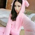 Pigiama Donna de flanela Pijamas Das Mulheres Pijamas de Inverno Para As Mulheres Inverno Mulheres Pijama Conjuntos de Pijama Feminino Pijama Mujer Primark Rosa