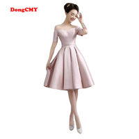 DongCMY new 2017 short plus size married sexy girl's Party vestidos Cocktail Dress free shipping