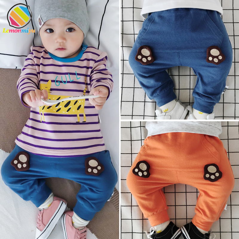 Lemonmiyu Full-Length-Pants Baby Pants Newborn Trousers Harem Toddler Autumn Cotton Casual