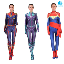 3D printing Movie Version Captain Marvel Carol Danvers Cosplay Costume Zentai Superhero Bodysuit Suit Jumpsuits  costume