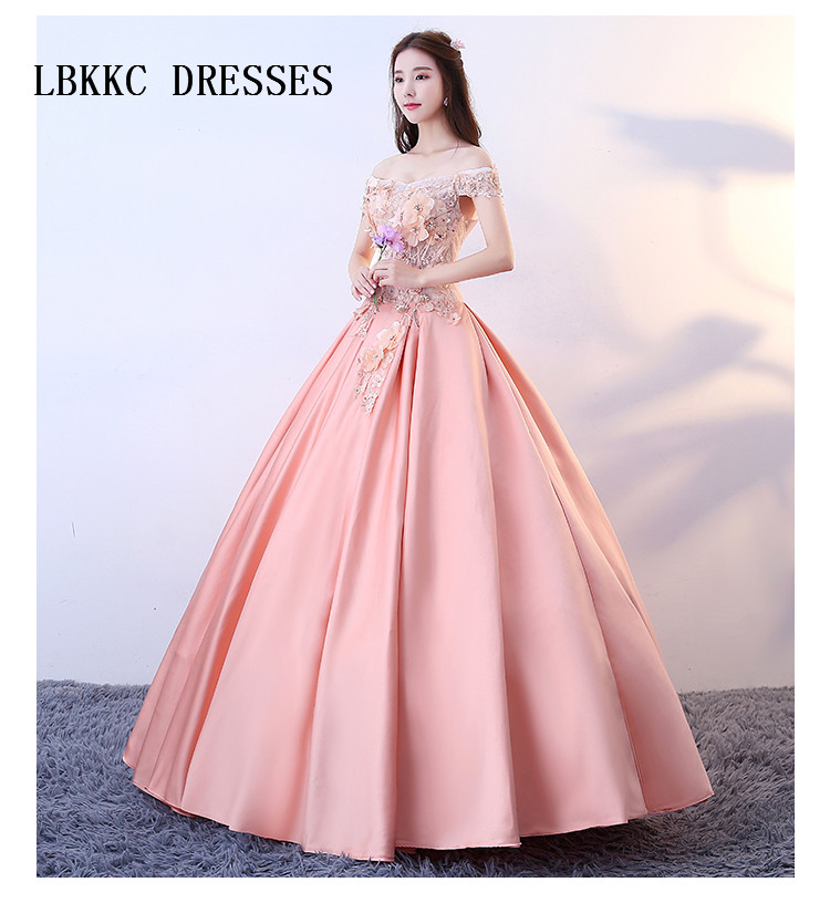 Aliexpress Com Buy Coral Quinceanera Ball Gown Dress