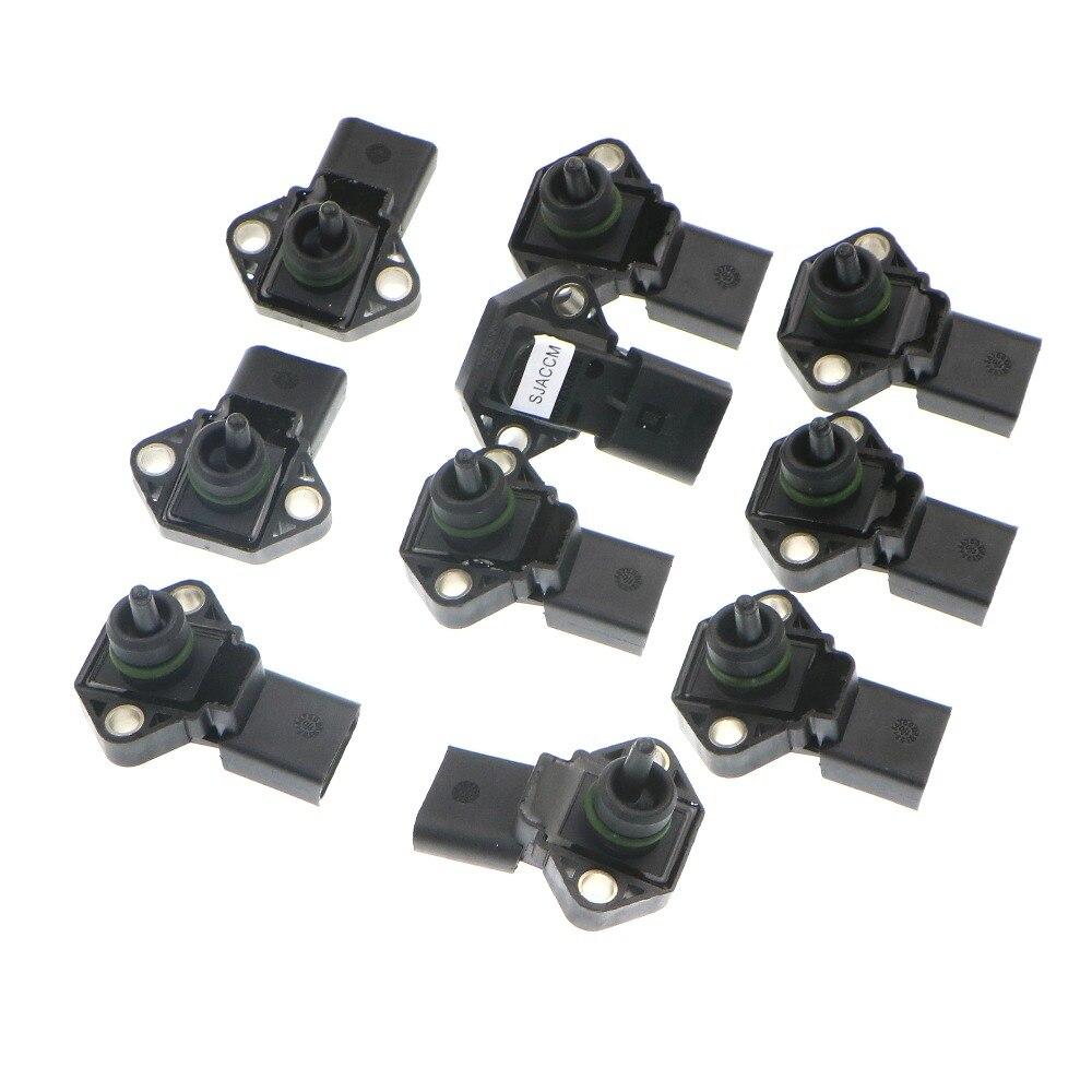все цены на  10Pcs New 2.5 Bar Manifold Abosolute Pressure MAP Sensor For VW Fabia Octavia Superb 038906051 038 906 051 0 281 002 177  онлайн