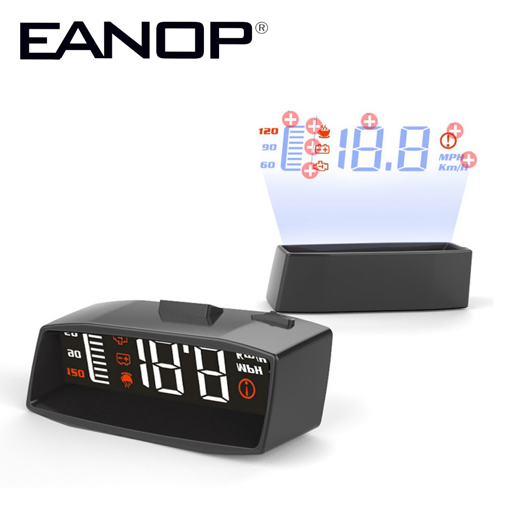 EANOP i Smart HUD Head up display Car speed projector OBD2 Scanner Windshield projector Oil Consumption