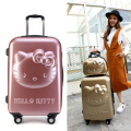 24inch Kids Hello Kitty Luggage Sets,Trolley bag Spinner Rolling Luggage,Children Hello Kitty Suitcase