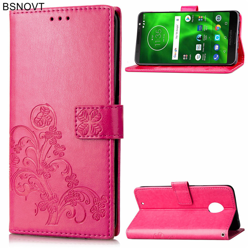 For Motorola Moto G6 Plus Case Silicone PU Leather Phone Bag  Cover BSNOVT