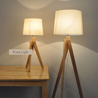 Modern Simple Log Solid wood Floor Lamp Art Living Room Light Creative Study Bedroom Light With LED Bulbs Free Shipping
