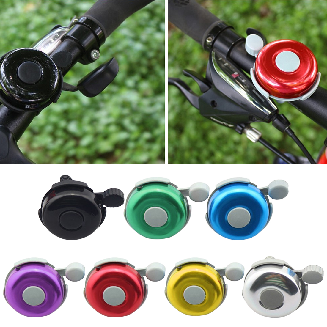 Bicycle Bell Road Mountain Bike Mental Plastic Bell Sound Bike Handlebar Horn ES