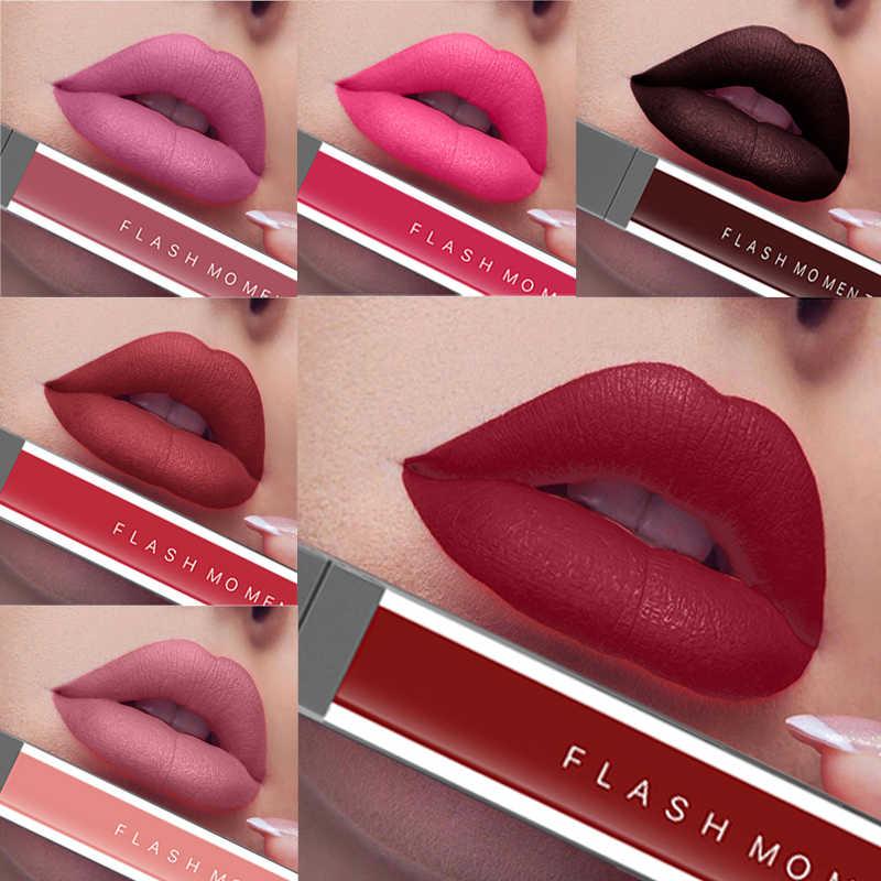Nieuwe 2019 Vloeibare Lipstick Matt Cosmetische Waterdicht Lipgloss Make Langdurige Pigment Naakt Rode Fluwelen Matte Vloeibare Liptick