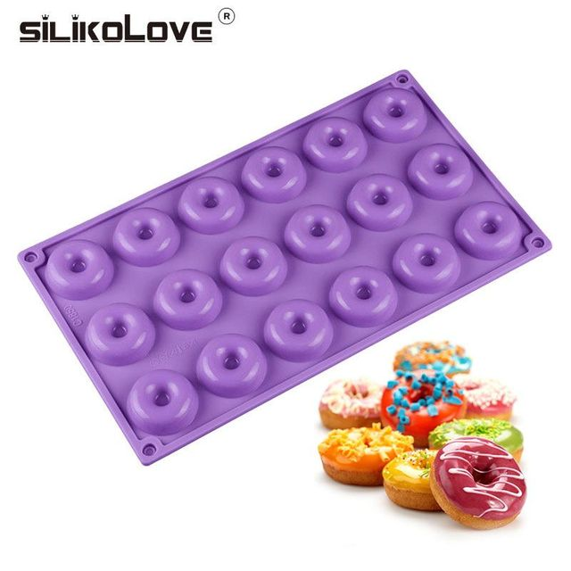 18 Hole Mini Donuts Silicone Mold